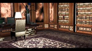 Library Room 4 | Croft Manor by Rockeeterl