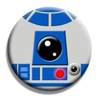 R2-D2 Pin Back Button by Mutant-Cactus