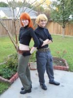 Kim and Ron Cosplay 2 by DarthJader11