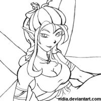 [Commission] Curvia's Fairy Pencils by ridia