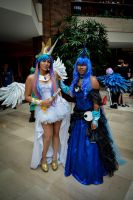 Celestia and Luna Cosplay by Belleciste