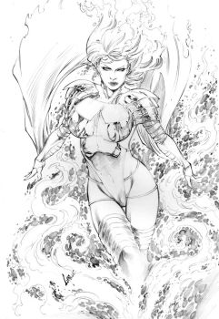 Emma Frost - Phoenox Power by CaioMarcus-ART