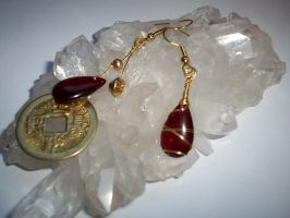 Feng Shui Drop Earrings by Sarinilli