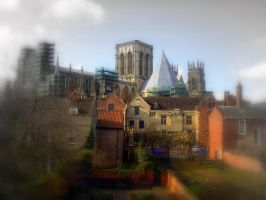 York minster from the walls . by velar1