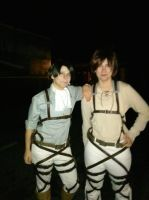 Levi and  Eren -Halloween Night by StagetechyArt