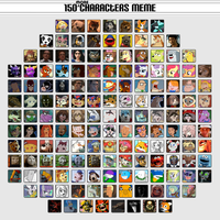 150 More Characters Meme by saffronpanther