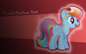 Crystal Rainbow Dash WP by AliceHumanSacrifice0