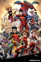 Young Justice Print 001 by ToddNauck