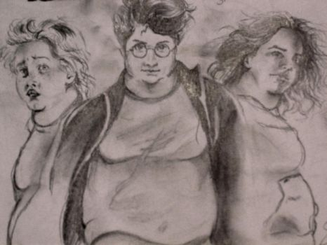 Fat Harry Potter and Friends by SarangOjena