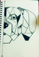 Dotted Geometric Dog by LittleSupremacy