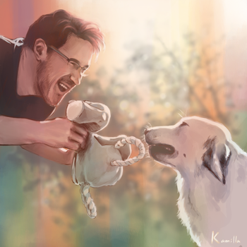 Markiplier And Chica by HGW27