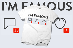 Famous design T-shirt by wordanscustomtshirts
