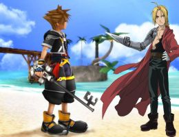 Sora vs Edward Elrich by Laugher1234