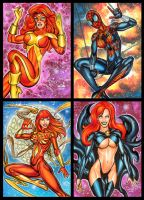 PROJECT PINUP SKETCH CARDS OCTOBER 10, 2016 by AHochrein2010