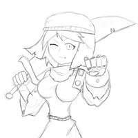 Stephanie the megami of crossover - Sketch by MultiMouths