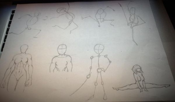 Figure Drawings by FishtheFish