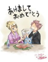 HAPPY NEW YEAR WITH NALU AND HAPPY picture by hiro by natsu159753