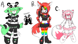 Custom Adoptables by glamourzombiexxx