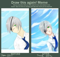 Meme: before and after by Haurin