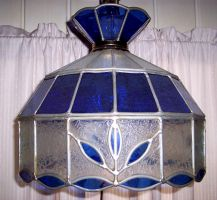 Stained Glass Hanging Lamp by Stock-by-Kai