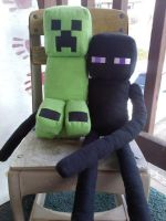 OTP (just kidding they're just plushies I made) by OEmilyThePenguinO