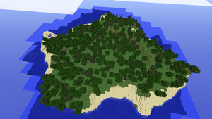 Minecraft 1.1 forest island seed by Tryzon