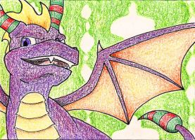 Christmas Spyro by Scunosi