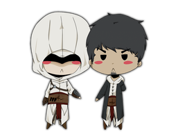 altair and malik. by TheMagicFadesAway