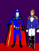 Cobra Commander and Treize (GI Joe + GW) by VoyagerHawk87