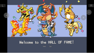 My Pokemon FireRed Omega Hall Of Fame by tanlisette