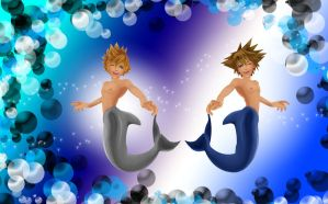 Sora and Roxas merman by RoxasTsuna