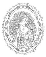 Briar Rose (lineart) by Shakoriel
