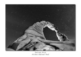 Delicate Arch At Night by brentbat