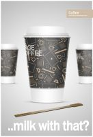 Stylish Coffee Cup by MaxieLindo