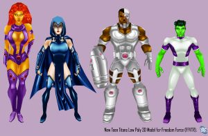 Teen Titans Game Models by IUltrahumanite