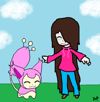 Me And My Skitty by Ayleia-The-Kitty