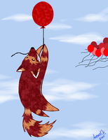 Red Balloons by wolven-spirits