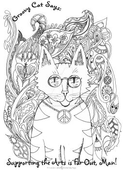 Groovy Cat Says by PeriwinklePaisley
