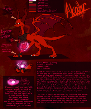 Akahr Reference sheet by WingedWilly