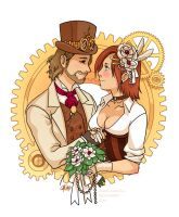 Steampunk Wedding by Zombiesmile