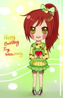 HBD Tiny-Strawberry by Hannun