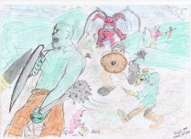 Battle coloured by my Son by AnaLoGMunKy