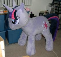 Giant Twilight Sparkle plush by Bladespark