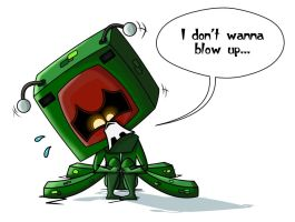 Voltar dressed as a creeper by Josie12345