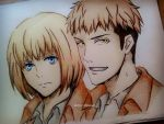 Armin and Jean by DoreiShounen