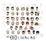 EXO LINE PNG PACK by LittleMirr