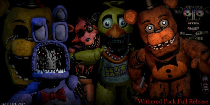 Fnaf 2 Withered Animatronics [FULL DOWNLOAD PACK] by CoolioArt