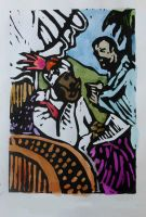 Acts 8:26-40  Phillip and the Ethiopian Eunuch by fleetofgypsies