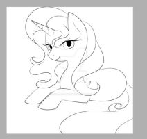 Sunset Shimmer (Linearts) unfinished by YogurtYard