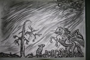 Pegasus and the hare by 666mephistopheles
